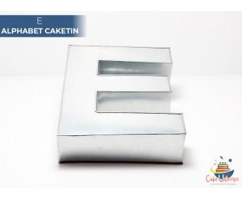 """Large Alphabet E Birthday Cake Tin / Pan 14"""" X 8"""""""