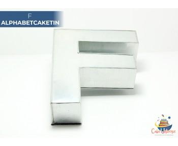 "Large Alphabet F Birthday Cake Tin / Pan 14"" X 8"""
