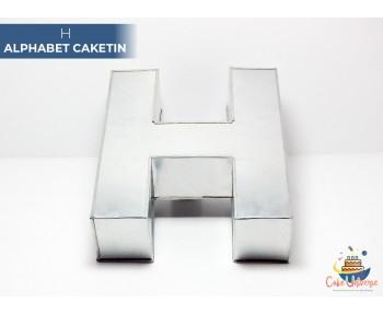 "Large Alphabet H Birthday Cake Tin / Pan 14"" X 8"""