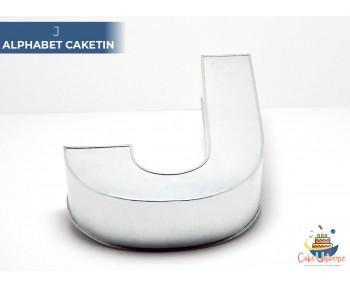 "Large Alphabet J Birthday Cake Tin / Pan 14"" X 8"""