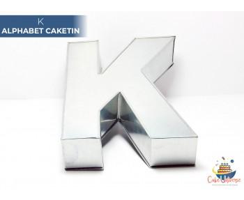 "Large Alphabet K Birthday Cake Tin / Pan 14"" X 8"""