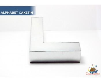 "Large Alphabet L Birthday Cake Tin / Pan 14"" X 8"""