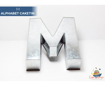 "Large Alphabet M Birthday Cake Tin / Pan 14"" X 8"""