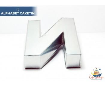 """Large Alphabet N Birthday Cake Tin / Pan 14"""" X 8"""""""