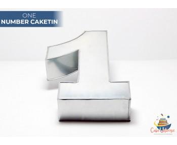 """Large Number 1 / One Birthday Cake Tin / Pan 14"""" X 8"""""""