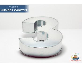 "Large Number 3 / Three Birthday Cake Tin / Pan 14"" X 8"""