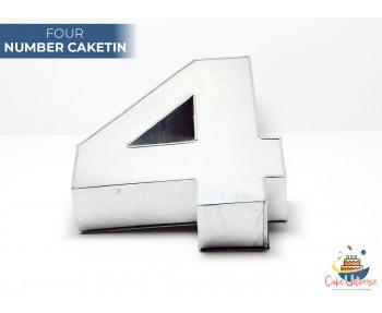 """Large Number 4 / Four Birthday Cake Tin / Pan 14"""" X 8"""""""