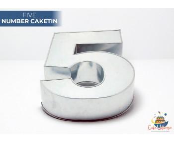 """Large Number 5 / Five Birthday Cake Tin / Pan 14"""" X 8"""""""