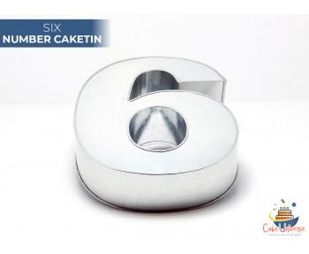 """Large Number 6 / Six  Birthday Cake Tin / Pan 14"""" X 8"""""""