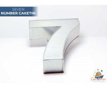 """Large Number 7 / Seven  Birthday Cake Tin / Pan 14"""" X 8"""""""
