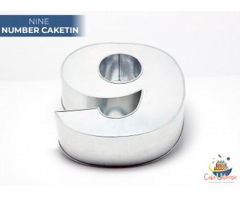 """Large Number 9 / Nine Birthday Cake Tin / Pan 14"""" X 8"""""""