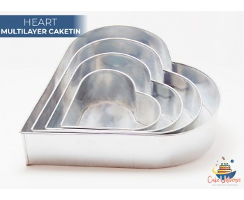 4 Tier Heart  Multilayer Wedding Cake Tin / Pans
