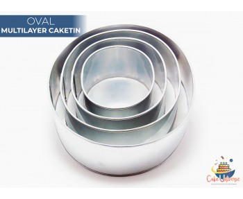 4 Tier Oval  Multilayer Wedding Cake Tin / Pans