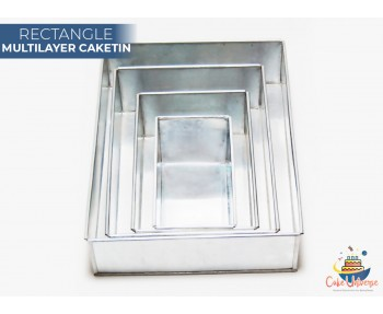 4 Tier Rectangle Multilayer Wedding Cake Tin / Pans