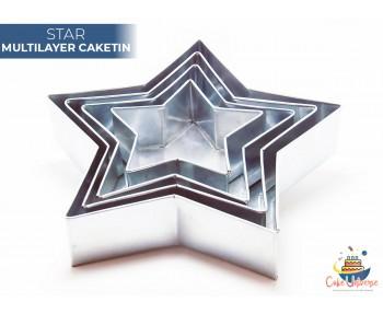 4 Tier Star Multilayer Wedding Cake Tin / Pans