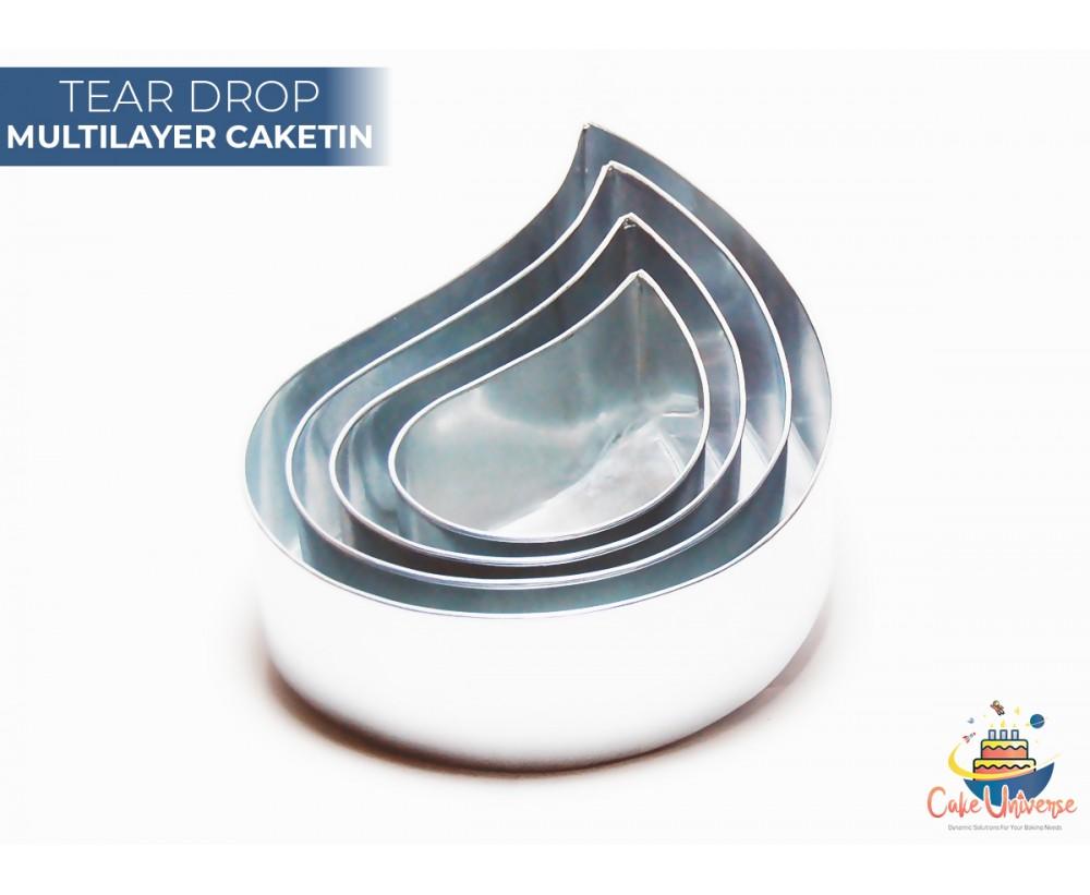 4 Tier Drop Multilayer Wedding Cake Baking Tins  / Pans