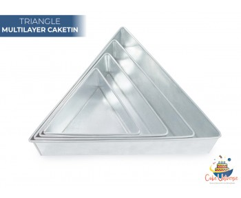 4 Tier Triangle Multilayer Wedding Cake Baking Tins  / Pans