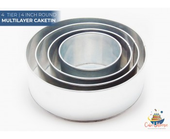 4 Tier Round Shape   4 Inch Deep   Wedding And Birthday Cake Baking Tin And Pan   6 8 10 12 Inch