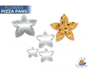 Set of 3 Flower Shape Pizza Pan 9,11,13 inch