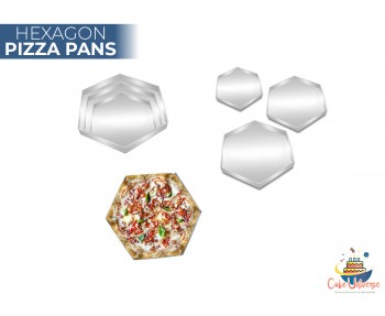 Pizza Pan Hexagon Shape -  9,11,13 inch Three Set