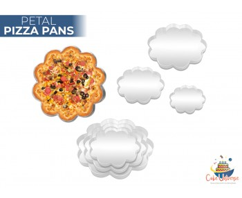 Set of 3 Petal Shape Pizza Pan 9,11,13 inch