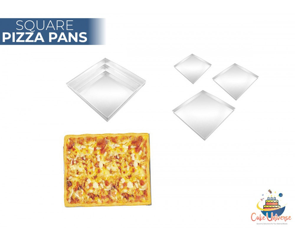 Pizza Pan Square Shape -  Set Of 3 Size 9,11,13 Inch