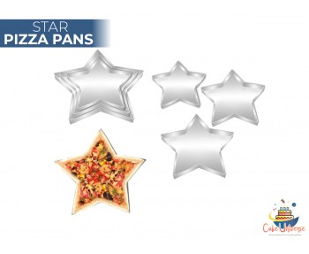 Set of Three/3 Star Shape Pizza Pan 9,11,13 inch