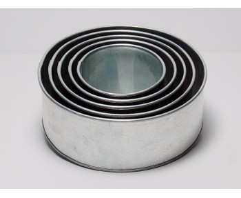 5 Tier Round Shape | 3 Inch Deep | Wedding And Birthday Cake Baking Tin And Pan | 6 8 10 12 14 Inch