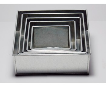 5 Tier Square Shape | 3 Inch Deep | Wedding And Birthday Cake Baking Tin And Pan | 6 8 10 12 14 Inch