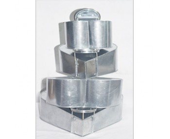 "4 TIER HEART SHAPE TOPSY TURVY MAD HATTER Cake Tin / Pan BAKING PAN 6""8""10""12"""