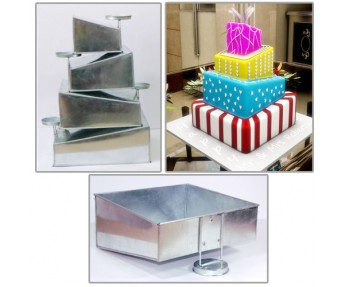 4 TIER SQUARE SHAPE MINI TOPSY TURVY BAKING PAN