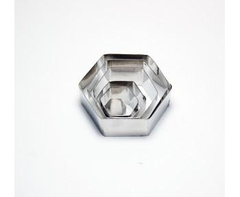 Hexagon Shape Cookie Cutter Set